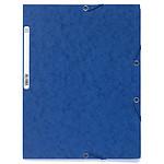 Exacompta Chemises 3 rabats élastiques 400g Bleu x 25