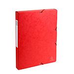 Exacompta Cajas de archivo Fondo Exabox 25 mm Rojo x 8
