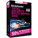 Bitdefender Total Security Multi-Device 2016 Offre Attachement - Licence 2 Ans 5 Utilisateurs