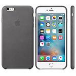 Apple Coque en cuir Gris Apple iPhone 6s Plus