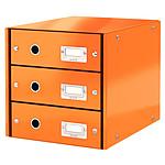 Leitz Bloc de classement à tiroirs Leitz Click & Store Orange