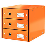 Leitz Bloque de archivo con cajones Leitz Click & Store Orange