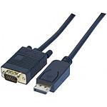 Câble DisplayPort mâle / VGA mâle (2 mètres)