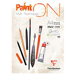 Clairefontaine Paint'On Block A4 A4 encolado 40 hojas 250g