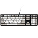 Ducky Channel One (coloris gris/blanc - MX Black - touches PBT)