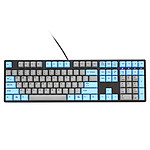 Ducky Channel One (coloris gris/bleu - MX Blue - touches PBT)
