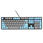 Ducky Channel One (coloris gris/bleu - MX Black - touches PBT)