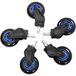 AKRacing Rollerblade Casters (azul)