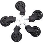 AKRacing Rollerblade Casters (negro)