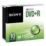 Sony DVD+R 4.7 Go 16x (par 10, boitier slim)
