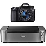 Canon EOS 70D + Objectif 18-55mm IS STM + PIXMA PRO-100 S