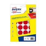 Avery Pastilles autocollantes diamètre 30 mm Rouge x 240