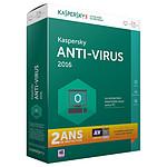 Kaspersky Anti-Virus 2016 - Licence 2 ans 1 poste