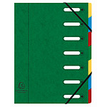Exacompta Harmonika Clasificador de ventanas de 7 botones Verde