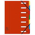 Exacompta Harmonika Trieur à fenêtres 7 touches Rouge