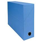 Exacompta Boite de transfert en papier toilé dos 90 mm Bleu clair