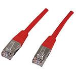 Câble RJ45 catégorie 6 F/UTP 0.5 m (Rouge)