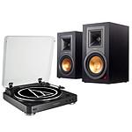 Audio-Technica AT-LP60BT Noir + Klipsch R-15PM
