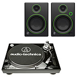 Audio-Technica AT-LP120USBC Noir + Mackie CR4