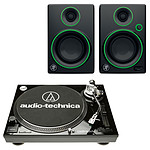 Audio-Technica AT-LP120USBC Noir + Mackie CR3