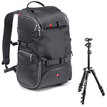 Manfrotto Travel Backpack MB MA-TRV-GY Gris + Befree One Noir