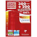 Clairefontaine Copies doubles perforées 300 pages + 200 GRATUITES A4 grands carreaux Séyès