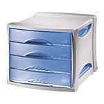 Esselte Bloc de classement 4 tiroirs bleu Intego