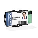 DURABLE Porte-badge ouvert pour 2 cartes de sécurité Noir x 10