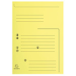 Exacompta Flap Folders Jura 250 Contact 210g Amarillo x 25
