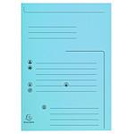 Exacompta Flap Folders Jura 250 Contacto 210g Azul x 25