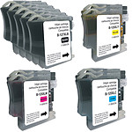 Megapack Cartouches compatibles LC125XL/LC127XL (Noir, cyan, magenta et jaune)