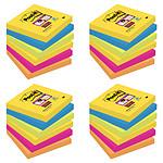Post-it Bloc Super Sticky 90 feuillets 76 x 76 mm Rio X 24