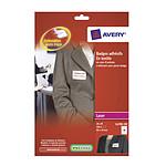Avery Insignias adhesivas de seda de acetato  x 200