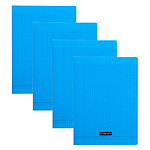 Calligraphe 8000 Polypro Cahier 96 pages 24 x 32 cm seyes Bleu x 40 + 10 OFFERTS !