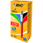 BIC 4 Couleurs Pointe Fine x 12