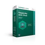 Kaspersky Anti-Virus 2017 - Licence 1 an 3 postes