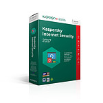 Kaspersky Internet Security 2017 - Licence 3 postes 1 an