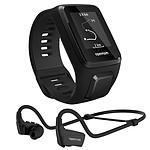 TomTom Spark 3 Cardio + Music bracelet fin Noir + Casque Bluetooth