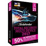 Bitdefender Total Security Multi-Device 2017 Oferta de archivos adjuntos - Licencia 2 Años 10 Dispositivos