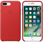 Apple Coque en cuir Rouge Apple iPhone 7 Plus