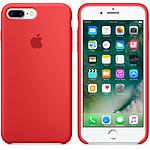 Apple Coque en silicone Rouge Apple iPhone 7 Plus