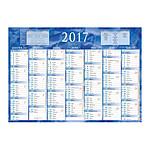 Calendriers Bouchut Grandrémy Calendrier de banque 2017 - 2 x 7 mois (38.5 x 54 cm) Bleu