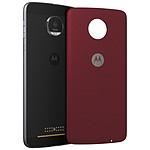 Motorola Mods Coque Tissu Rouge Moto Z/Z Play