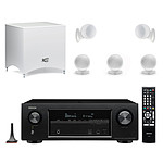 Denon AVR-X1300W Noir + Cabasse Alcyone 2 Pack 5.1 Blanc