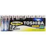 Toshiba Pilas Alcalinas AAA LR03 (por 12)