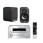 Yamaha CRX-550 Argent + Q Acoustics 3010 Graphite