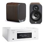 Denon CEOL N9 Blanc + Q Acoustics 3010 Bois