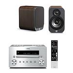 Yamaha CRX-550 Argent + Q Acoustics 3010 Bois
