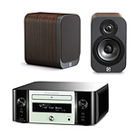 Marantz Melody Stream M-CR611 Blanc + Q Acoustics 3010 Bois
