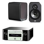 Marantz Melody Stream M-CR611 Blanc + Q Acoustics 3020 Graphite
